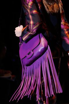 Gucci Spring 2014 Ready-to-Wear Collection Slideshow on Style.com.  pop of purple