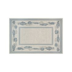 Couristan Dolce Corvina Framed Fish Indoor Outdoor Rug, White