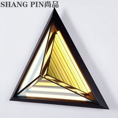Modern american style led triangle rhombus decoration  stair geometry ceiling light