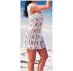 Crochet White Beach Dress Prefect Cover Up by the by DearAlina