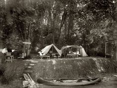 A summer camp circa 1920 in the Washington, D.C., area. National Photo Company Collection glass negative, Library of Congress.| Shorpy.com