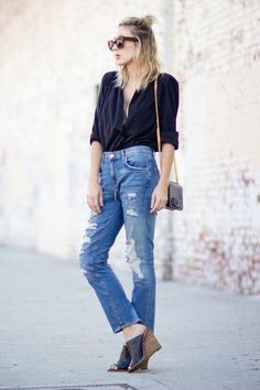 Cool new denim outfit ideas - click for street style inspiration!