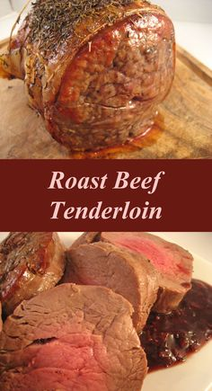 Roast Beef Tenderloin with Red Wine Shallot Sauce - maybe something special for New Year's Eve dinner? Roast Chicken And Gravy, Roast Beef, Roast Brisket, Holiday Recipes, Dinner Recipes, Beef Steak Recipes, New Years Eve Dinner, Beef Tenderloin, Beef Dishes