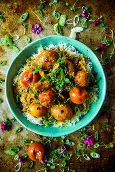 Paleo Chicken Curry from HeatherChristo.com