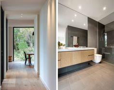 Blairgowrie House by InForm Design & Pleysier Perkins 11 - MyHouseIdea Royal Oak Floors, Layout, Bathroom Styling, Bathroom Ideas, Glass Bathroom, Simple Bathroom, Kitchen Colors, Bathroom Colours, Kitchen Ideas