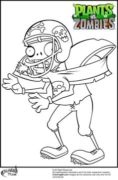 Free Printable Plants Vs Zombies Coloring Pages For Kids