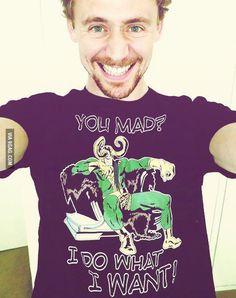 Nothing makes my inner dork happier than seeing Tom be a dork.