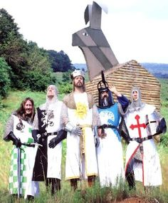 King Arthur (and other knights of the round table) and the Trojan Wabbit (elmer fudd)    (Monty Python and the Holy Grail)