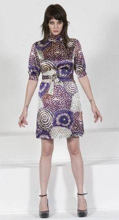 Floral Sheath Dress High Neck Dress Silk Dress Dresses with