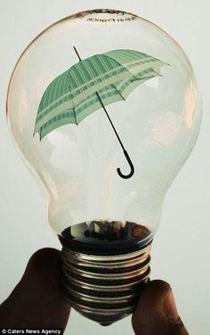 Light bulb art by photographer, Adrian Limani Glow Lamp, Light Bulb Art, Environmental Art, Illustrations, Bottle Design, Surreal Art, Double Exposure, Photo Manipulation, Fine Art Photography