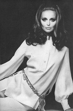 Samantha Jones in Nina Ricci, by Gianni Penati, Vogue 1968