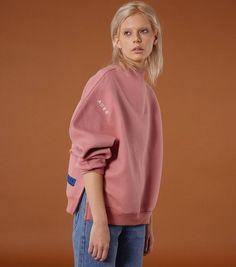 Zipper sweatshirts pink Restock ! . . #ader#adererror#fw#design#sweatshirts#fw#lookbook by ader_error