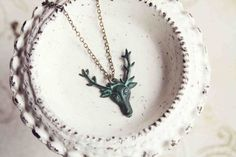 In STOCK patina deer necklace from Girls Day Out by girlsdayout, $24.00