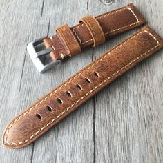 >> Click to Buy << 20mm 22mm Oil Wax Brown Gray Italy Genuine Leather Strap, Retro Classic Men Women Watchband Belt For Universal Watch #Affiliate