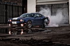 This is the Dodge challenger. It is the least favored between the mustang and camaro. None the less i love this car.