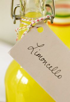 {Gifts from the kitchen}  Spread festive cheer with this Homemade Limoncello recipe. Love this and going to try it! Perfect after dinner drink when you don't want to serve dessert!