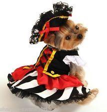 Mascota Perro Gato Chica Pirata Halloween Navidades Disfraz Traje Ropa XS-XL