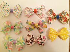 Easter baby hair bows. https://www.etsy.com/listing/225383138/spring-time-and-easter-small-hair-bows?ref=shop_home_active_2
