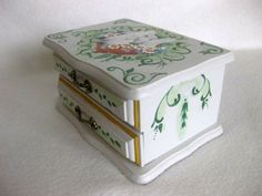 hand painted upcycled jewelry box