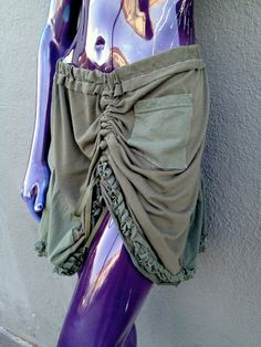 Upcycled Tshirt Skirt Green and Olive Obama 08  by JulieMarieSink, $41.00