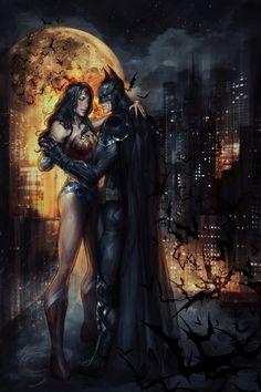 "comics-station: ""Batman & Wonder Woman Fan Art by Jasric Follow The Best Comics Artwork Blog on Tumblr """