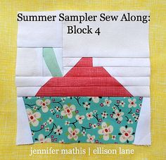soft serve ice cream block by Ellison Lane Quilts, via Flickr. I read www.quilterblogs.com and found this today... it's so cute!