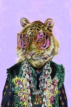 Gucci Bengal Tiger Canvas Art Print by Heather Perry Canvas Art Prints, Canvas Wall Art, Graphic Art Prints, Animal Art Prints, Tiger Painting, Canvas Frame, Art Inspo, Framed Art, Cool Art