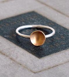 Two Tone Pool Ring