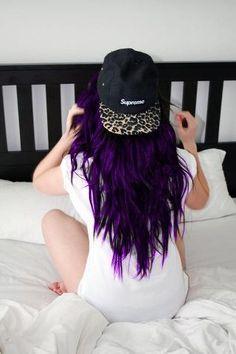 Love purple hair <3 So glad I rock that dope shit
