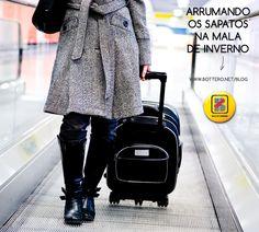 Dicas de Viagem: Arrumando os Calçados na Mala de Inverno