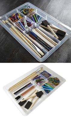 Buy the Lipped Craft / Stationery Divider Tray from Really Useful Boxes today! A part of our Craft Boxes & Storage Ideas range. Stationery Craft, Desktop Organization, Organisers, Craft Box, House Goals, Storage Boxes, Divider, Tray, Crafts