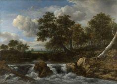 Jacob Isaacksz van Ruisdael, 'Landscape with a waterfall', c1668, Rijksmuseum, On loan from the City of Amsterdam (A van der Hoop Bequest)