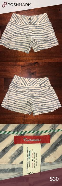 Anthropologie Cartonnier pleated sailor shorts Extremely cute Anthropologie Cartonnier pleated sailor shorts size 2. Worn once, in amazing condition! Too many things in my closet, need to let it go to a new home.  Open to offers. Tags: Anthropologie urban outfitters sailor summer spring free people madewell cute Anthropologie Shorts