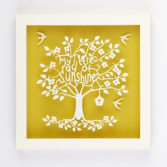 my-little-ray-of-sunshine-typography-paper-cut/ silhouette image for bedroom / nursery