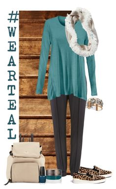 Swing TEAL by styled2at on Polyvore featuring polyvore, fashion, style, MICHAEL Michael Kors, Kate Spade, Laura Mercier, CAbi and OPI