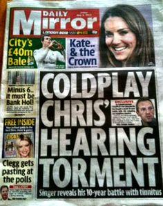 Chris Martin reveals his tinnitus