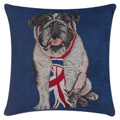 British Bulldog Pillow Blue--As cute as it is functional as a fun conversation starting piece. #DreamDormOCM