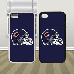 NFL Chicago Bears Helmet Hybrid iPhone 4 4s 5 5s 5c Case Cover Hard