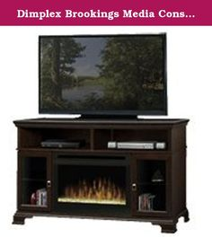 Dimplex Brookings Media Console Electric Fireplace - Espresso with Glass Embers (GDS25-E1055G). The transitional style of the Dimplex Brookings Media Console Electric Fireplace is available in two finishes, each with the option of a 25-inch self-trimming firebox with a log set or glass embers. This versatile home theater media console provides ample storage and three different inserts to customize your unit. Choose between the wood and glass inserts to achieve different style elements…