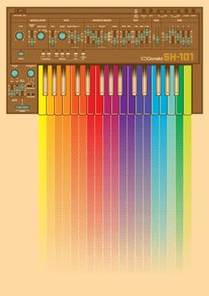 How I view my Synth. Foley Sound, Analog Synth, Instruments, Sound Art, Drum Machine, Electronic Music, Page Design, Rainbow Colors, Cool Stuff