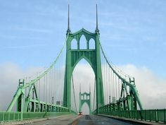 Google Image Result for St. John's Bridge, NW Bridge Ave, Portland, OR 97203 #CathedralPark to #TualatinMountains