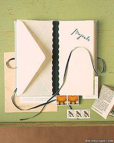 Envelope Recipe Books