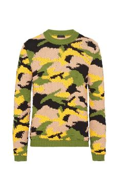 Prada, Pullover, Camouflage, Knitwear, Ready To Wear, Men Sweater, Sweaters, How To Wear, Fashion
