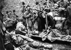 Bosnian partisans of the 15th Majevičke Brigade meet with wounded fellow insurgents of the 2nd Dalmatinske Brigade during the Battle of the Sutjeska, in which approximately 127,000 Axis German, Italian, Bulgarian and fascist Croatian forces...