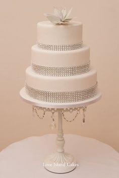 Diamante cake, stunning!