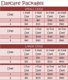 Dog Boarding Prices, Pet Boarding, Animal Boarding, Daycare Prices, Daycare Schedule, Pet Cafe, Pet Sitting Business, Pet Hotel, Dog Grooming Business