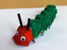 Egg carton Hungry Caterpillar