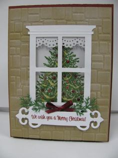 Chrismas window by ixfquiller - Cards and Paper Crafts at Splitcoaststampers