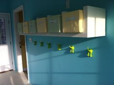 Alternative for expensive cubbies? Cute coat hooks from ikea. Apple Seeds Daycare
