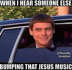 haha! Reminded me of when we are on the freeway to youth service, blasting Indiana Bible College!!!